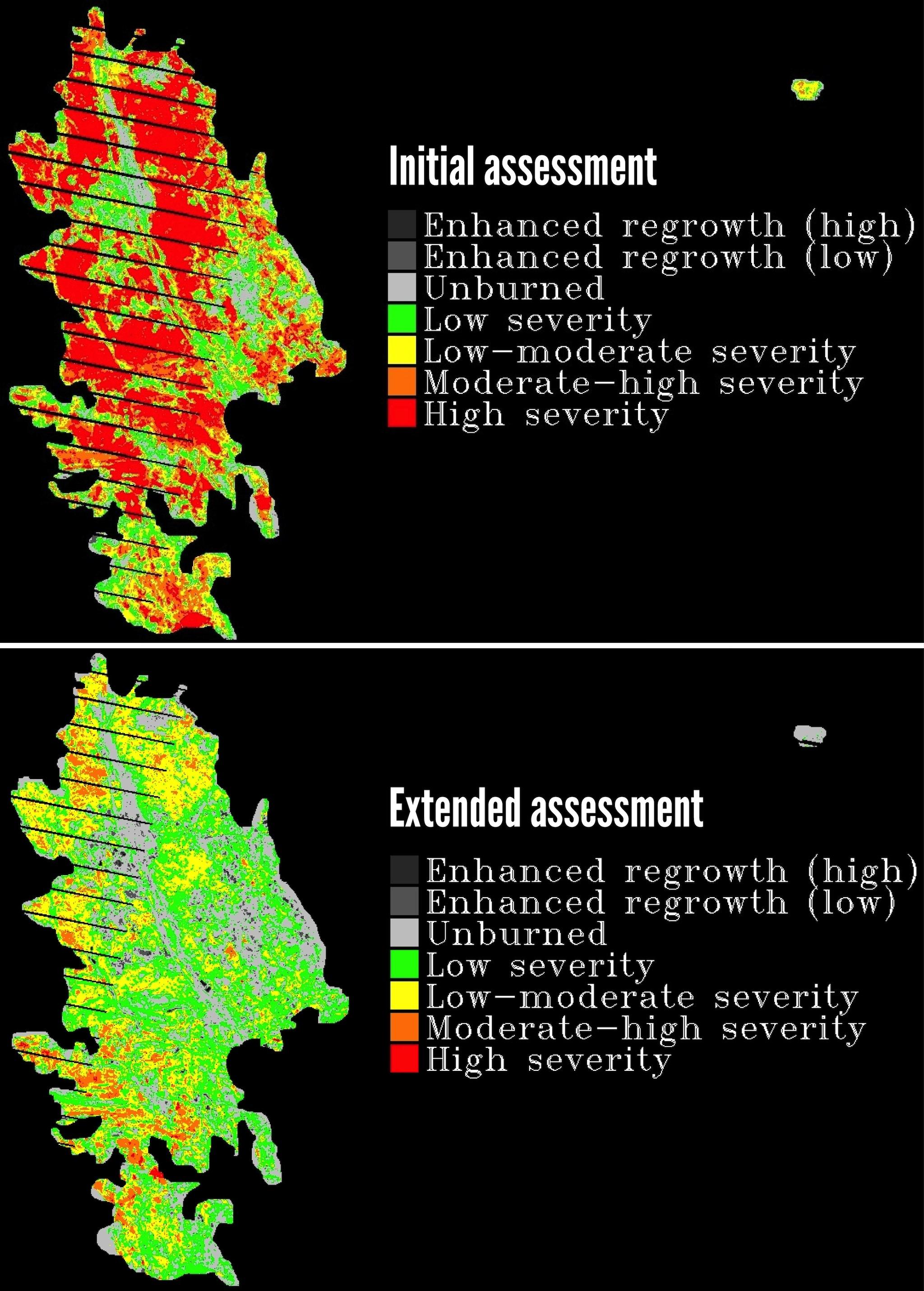 Extended assessment false color image